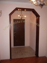 фото арок в квартире деревянные трапеция