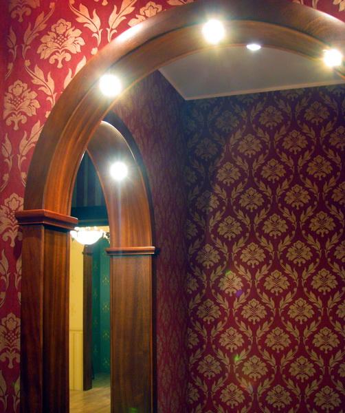 Арки межкомнатные с подсветкой фото