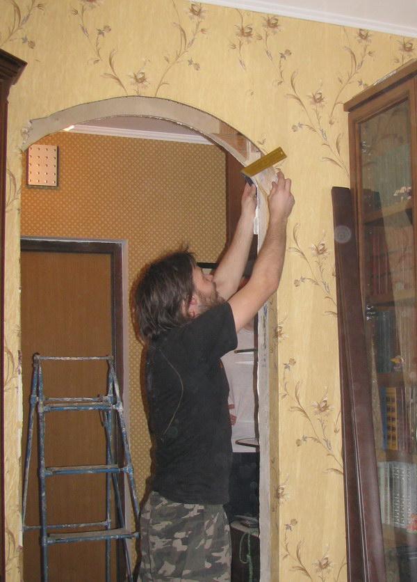 Как в доме самим сделать арку из