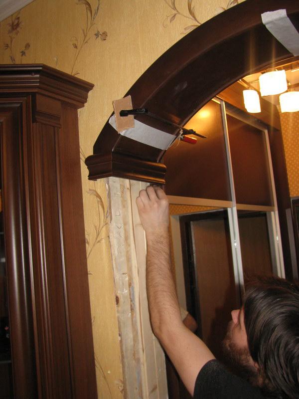 Как сделать арку из двп своими руками